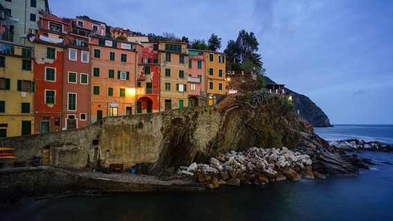 Riomaggiore - Cinque Terre - at blue hour