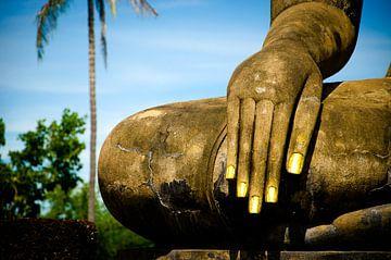 Fingernails Boeddha, Sukothai (Thailand) van Olivier Van Acker