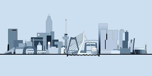 Rotterdamse Skyline - Bright Skies