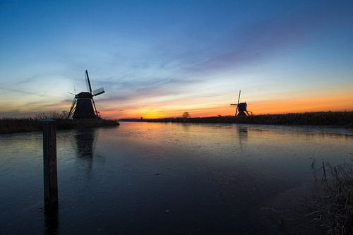 Kinderdijk Winter Landschap van Sander Monster
