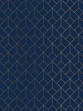 Geometrisch Patroon Print van MDRN HOME