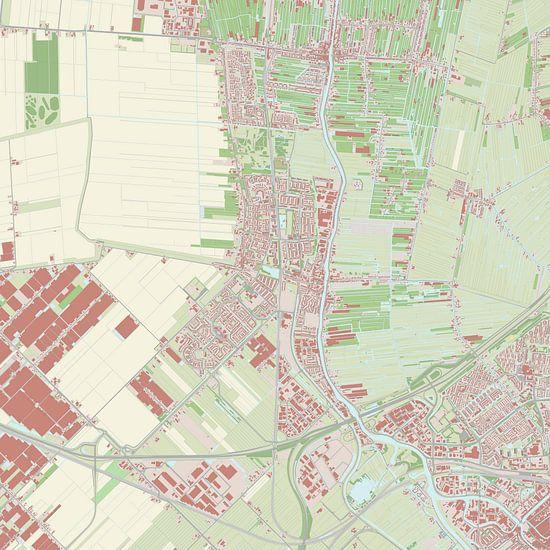 Kaart vanWaddinxveen