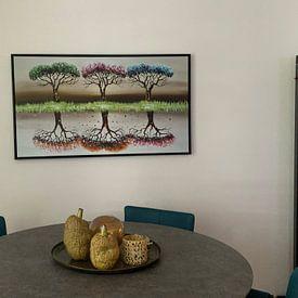 Klantfoto: Seasons van Gena Theheartofart, op canvas