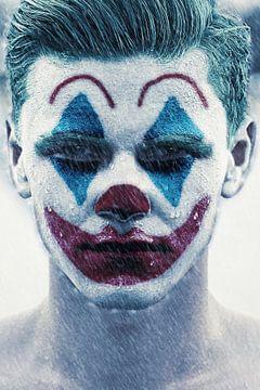 Joker in de regen van Fotografie Jeronimo