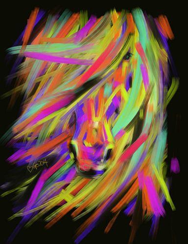 Paard Rainbow Hair van
