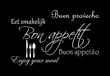 Bon appetit - Zwart van Sandra H6 Fotografie