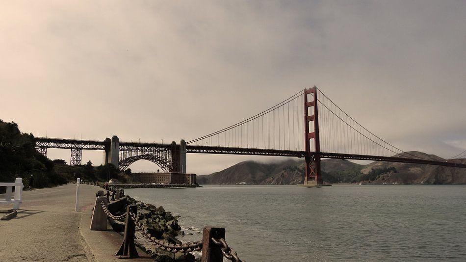 Golden Gate Bridge - San Francisco  van Josina Leenaerts