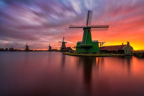 A sunrise to remember in Zaanse Schans sur