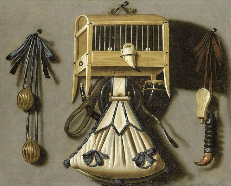 Stilleven met jachtgerei, Johannes Leemans van Meesterlijcke Meesters