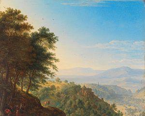 Berglandschaft bei Boppard aan de Rijn, Herman Saftleven
