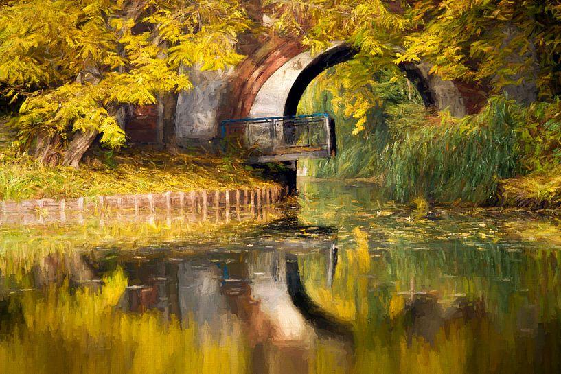 autumn bridge van Bernd Hoyen