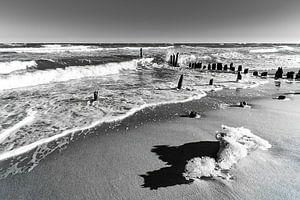 Groyne in winter time on the Baltic Sea coast