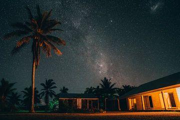 Melkweg in Aitutaki, Cook Islands van Jaco Pattikawa