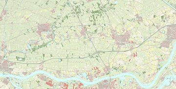 Kaart van West Betuwe
