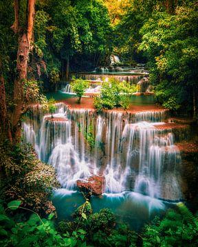 Huay Mae Khamin Wasserfall Thailand von Niels Tichelaar