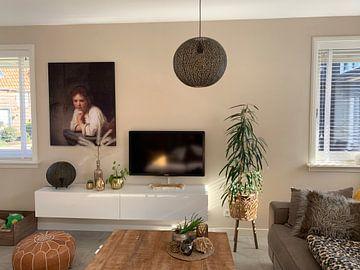 Kundenfoto: Mädchen im Fenster - Rembrandt van Rijn