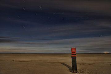 Sterrenhemel boven het Amelander strand von Remco de Vries