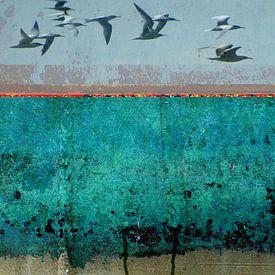 Collage digitale abstrait sur Ger Veuger