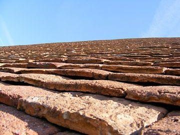 dakpannen in Frankrijk van Mirjam van Ginkel