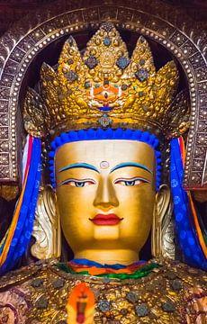 Buddha in Palcho Kloster, Tibet von Rietje Bulthuis