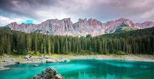 Lago di carezza, Dolomieten, Italië van