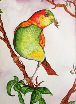 Fantasie vogel van Esther  van den Dool