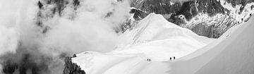 Bergbeklimmer op de Mont Blanc van