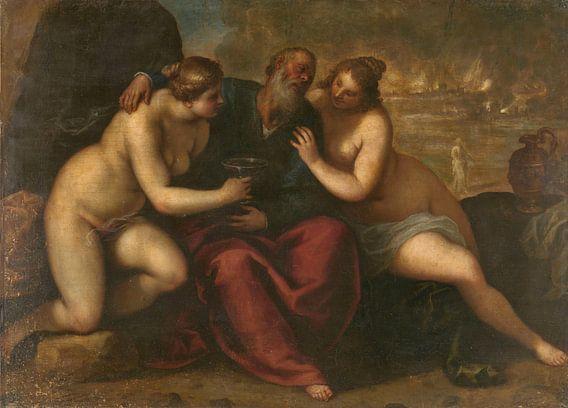 Lot en zijn dochters, Jacopo Palma (il Giovane)