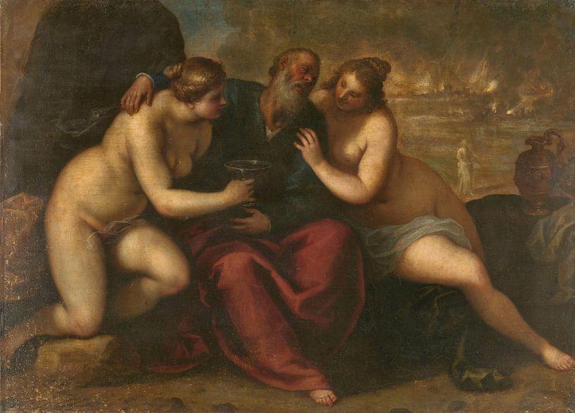 Lot en zijn dochters, Jacopo Palma (il Giovane) van Meesterlijcke Meesters