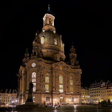 Frauenkirche bei Nacht von Heiko Kueverling