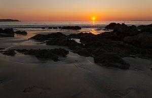 Sonnenuntergang über dem Golf von Bengalen, Myanmar von Marco Heemskerk