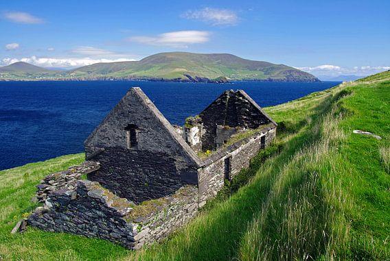 Deserted houses on Blasket Islands