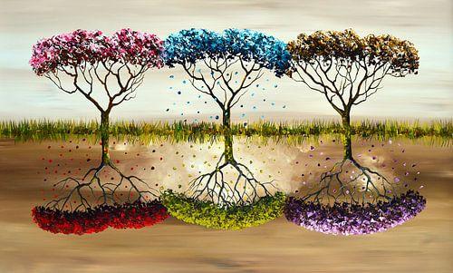 Seasons - Jahreszeiten von Gena Theheartofart