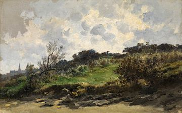 Carlos de Haes-Hügellandschaft mit Wildgras, Antike Landschaft
