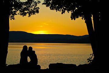 Romatische zonsondergang von Cees van Miert