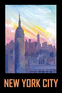 New York City USA Klassisches Retro-Poster