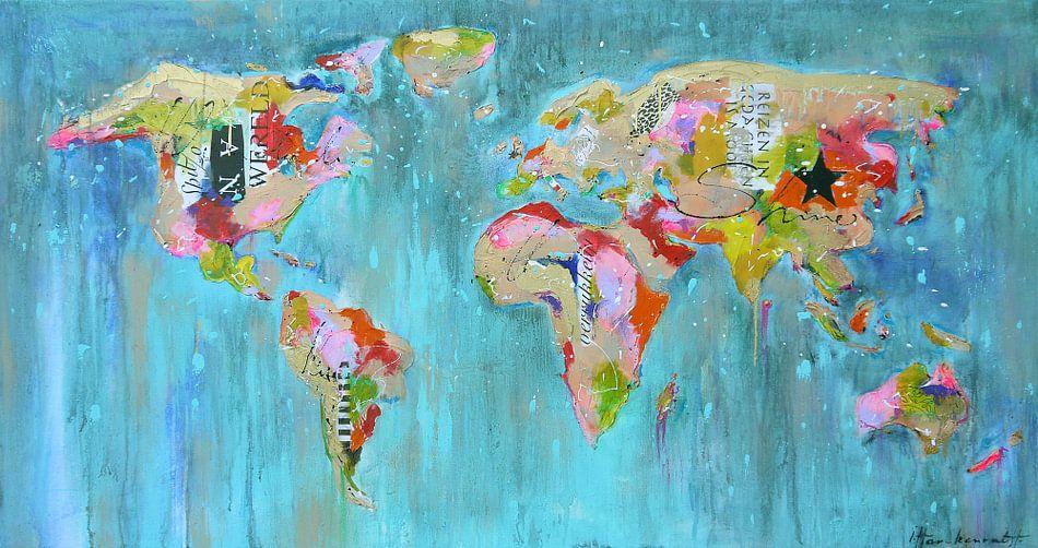 Worldmap painting mix