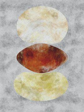 Balans 2 - Abstract organische vormen van Maurice Dawson