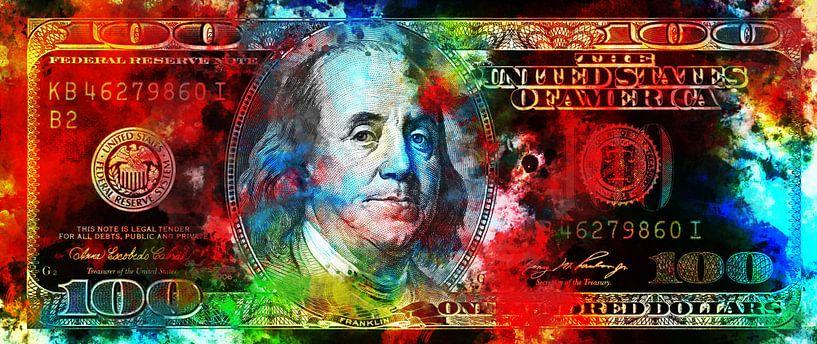 100 Dollar in kleur van Sharon Harthoorn