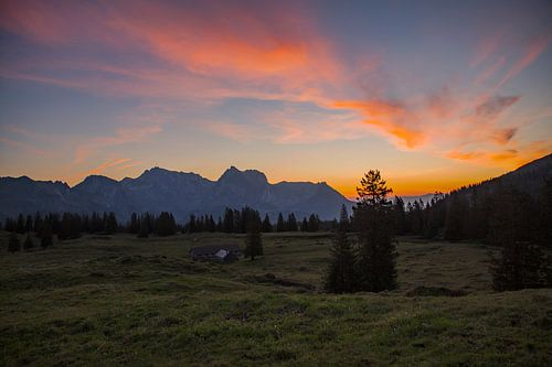 Sonnenaufgang auf der Alp Sellamatt