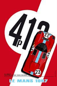 412P Richard Attwood, Piers Courage 1967 von Theodor Decker