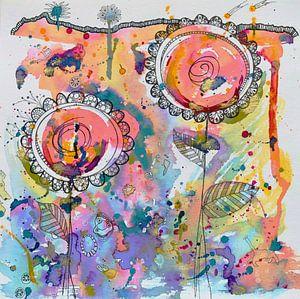 Abstracte bloemen
