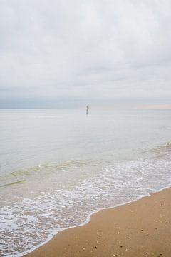 Zonsopkomst op het strand, Scheveningen van Inge Kooiman