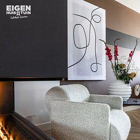 Kundenfoto: Moderne abstrakte Kunst - Linien 2 von Studio Malabar, als akustikbild