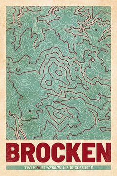 Brocken | Landkarte Topografie (Retro) von ViaMapia