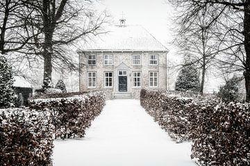 Landgoed de Berkt dans le Brabant sous la neige. sur Ron van der Stappen