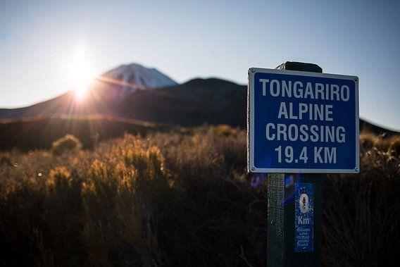 Tongariro Alpine Crossing, Nieuw-Zeeland van Martijn Smeets