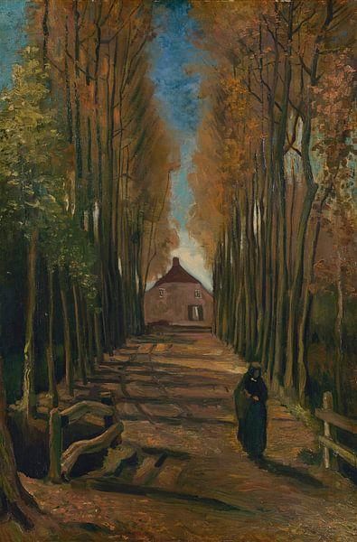 Vincent van Gogh. Laan met populieren in de herfst van 1000 Schilderijen