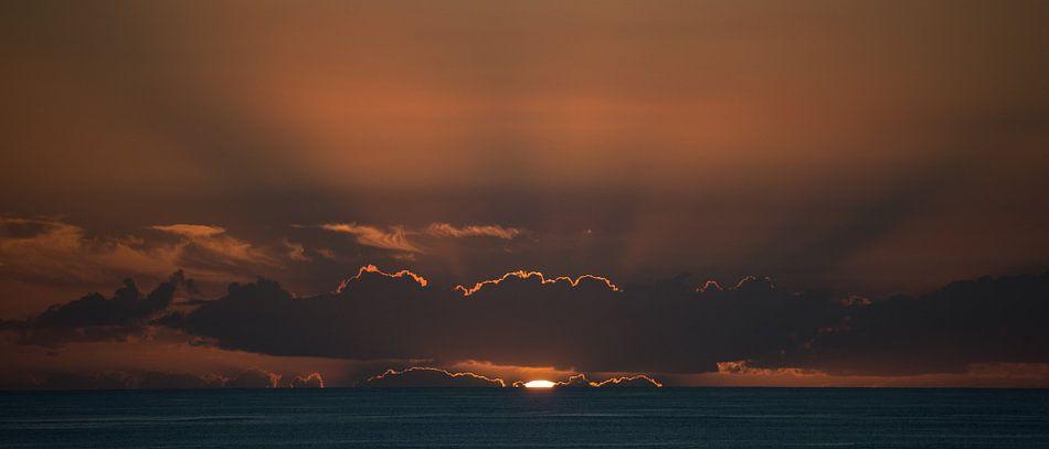 Zonsondergang op Madeira van Hans Kool