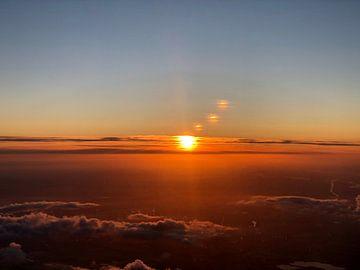 Vue du matin dans le ciel sur Afrodite Zegers